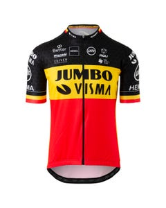 Replica Belgischer Meister Trikot Team Jumbo Visma Herren