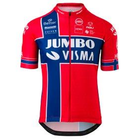 Replica Noors Kampioen Fietsshirt Team Jumbo Visma Heren
